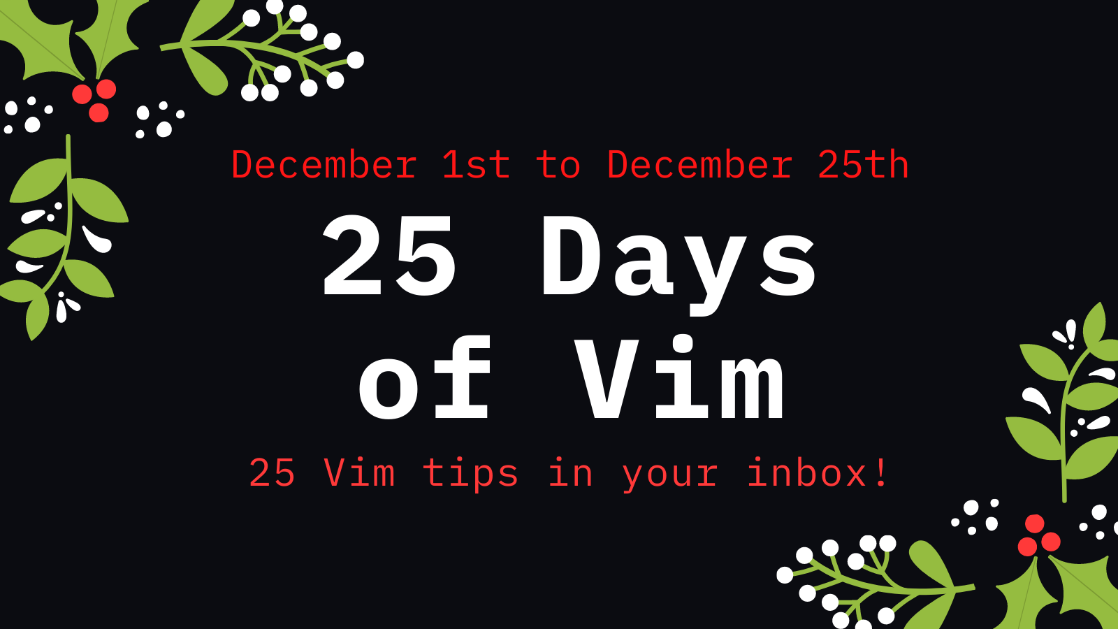 25 Days of Vim